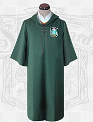 cheap -Harry Potter Gryffin d'or Slytherin Draco Malfoy Outfits Masquerade Men's Women's Movie Cosplay School Uniforms Red Green Coat Halloween Carnival Masquerade Polyester