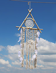 cheap -Boho Dream Catcher Handmade Gift Wall Hanging Decor Art Ornament Crafts Feather For Kids Bedroom Wedding Festival 30*11*65cm