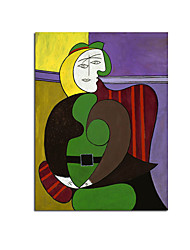 cheap -Oil Painting Handmade Hand Painted Wall Art Modern Abstract Picasso Famous Home Decoration Decor Rolled Canvas No Frame Unstretched