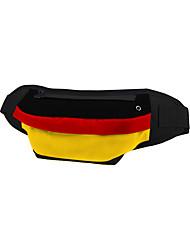 cheap -Unisex Bags Oxford Cloth Fanny Pack Zipper Plaid Outdoor Bum Bag Black