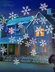 cheap -Christmas Light Snowflake Projection Lamp Christmas Decoration Lamp Can Be Remotely Plugged In
