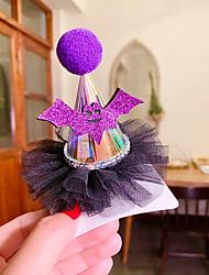 cheap -1pcs Toddler Girls' Active Halloween / Festival Animal Mesh Hair Accessories Purple / Yellow / Gold