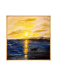cheap -Oil Painting Handmade Hand Painted Wall Art Square Modern Abstract Sunset Landscape Home Decoration Decor Rolled Canvas No Frame Unstretched