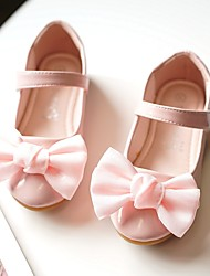 cheap -Girls' Flats Flower Girl Shoes Patent Leather Wedding Dress Shoes Little Kids(4-7ys) Wedding Party Party & Evening Pearl Flower Light Pink White Fall Spring