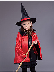 cheap -Halloween Cloak Kids' Cloak Witch Clothes Witch Cloak Halloween Series Products Halloween Hat