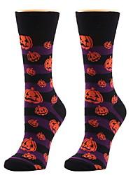 cheap -Fashion Comfort Women's All Socks Cartoon Socks Casual Socks Medium Halloween Purple 1 Pair