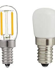 cheap -1pc 2W E14 LED Fridge Light Bulb Refrigerator Corn Bulb AC 220V LED Lamp White/Warm White Filament Replace Halogen Light Glass PVC