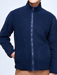 cheap -Men's Jacket Sport Fall Winter Regular Coat Stand Collar Regular Fit Rain Waterproof Sporty Sports Jacket Long Sleeve Color Block Full Zip Gray Green Black