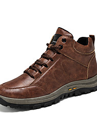 cheap -Men's Trainers Athletic Shoes Daily Hiking Shoes Synthetics Non-slipping Light Brown Black Fall Winter