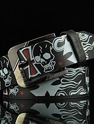 cheap -Men's Wide Belt Going out Festival Black and White Black Belt Solid Color