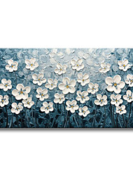cheap -Oil Painting Handmade Hand Painted Wall Art 3D Palette Knife Abstract Flower Home Decoration Decor Rolled Canvas No Frame Unstretched