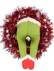 cheap -Christmas Decoration Greench Green Artificial Leg Wreath Decoration