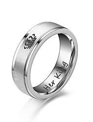 cheap -Ring Classic Silver Black Alloy Sweet 1pc 5 6 7 8 9 / Women's / Men's