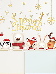 cheap -Merry Christmas Bear and Animal Window Glass Decorated Wall Stickers 92*84cm