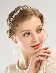 cheap -Children's Holiday Performance Jewelry Alloy Rhinestone Headband White Wedding Accessories Handmade Hair Accessories Birthday Headband
