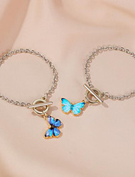 cheap -Women's Bracelet Pendant Bracelet 3D Butterfly Fashion Alloy Bracelet Jewelry Light Blue / Dark Blue For Christmas Party Wedding Street Daily