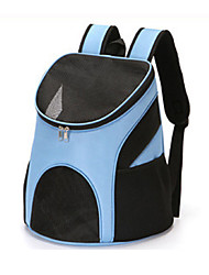 cheap -Dog Carrier Cat Travel Bag Pet Backpack Polyester Carrier Bag Travel Backpack Zipper Solid Color Daily Outdoor Sky Blue Black Red Coffee