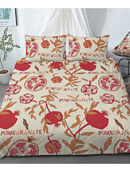 cheap -Print Home Bedding Duvet Cover Sets Soft Microfiber For Kids Teens Adults Bedroom Fruit Pomegranate 1 Duvet Cover + 1/2 Pillowcase Shams