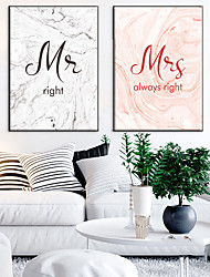 cheap -Wall Art Canvas Prints Painting Artwork Picture Romance Word Home Decoration Decor Rolled Canvas No Frame Unframed Unstretched