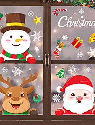 cheap -Christmas Window Stickers Santa Claus Sticker Merry Christmas Decorations for Home Navidad Xmas Ornament Gift New Year