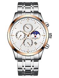 cheap -REWARD Mens Watches Luxury Quartz Watch Casual fashion Steel Strap Men Chronograph Waterproof Moon phase Wrist Watch