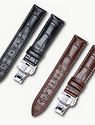 cheap -Genuine Leather / Leather / Calf Hair Watch Band Black / Brown 17cm / 6.69 Inches / 18cm / 7 Inches / 19cm / 7.48 Inches 1.4cm / 0.55 Inches / 1.6cm / 0.6 Inches / 1.8cm / 0.7 Inches