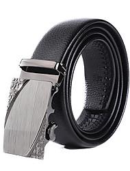 cheap -Men's Waist Belt Work Black Belt Solid Color