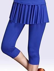 cheap -Ballroom Dance Activewear Pants Pleats Solid Women's Training Performance High Modal
