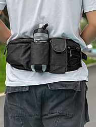 cheap -Men's Bags Oxford Cloth Fanny Pack Zipper Plain Holiday Outdoor Bum Bag Blue Black