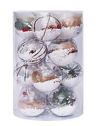cheap -Christmas Decorations 6cm8cm/16pcs Transparent Ball Christmas Ball Set Christmas Tree Pendant