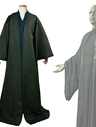 cheap -Harry Potter Lord Voldemort Outfits Masquerade Men's Movie Cosplay Halloween Black Coat Top Halloween Carnival Masquerade Polyester