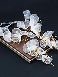 cheap -Super Fairy White Bridal Headband Sen Crystal Hair Accessories Wedding Accessories Evening Dress