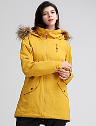 cheap -GSOU SNOW Women's Ski Jacket Snow Jacket Thermal Warm Waterproof Windproof Breathable Hooded Winter Winter Jacket for Snowboarding Ski Mountain