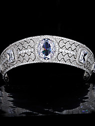 cheap -Royal Family Princess Eugenie Wedding Crown Zircon Luxury Bridal Wedding Headdress Wedding Accessories