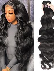 cheap -Brazilian Hair Body Wave Hair Bundles Human Hair Weave Bundles VIrgin Hair Extensions 8-28 Natural Color 3PC 150g