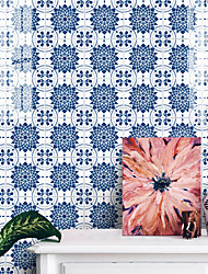 cheap -25 Pieces of European-style Thickened Tile Self-adhesive Paper Mandala Kitchen Oil-proof And Waterproof Removable Wall Stickers