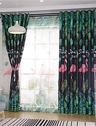 cheap -Window Curtain Window Treatments Black 1Panels Room Darkening Grommet Rod Pocket Solid For Living Room Bed Room