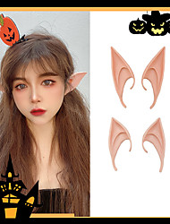 cheap -Halloween Elf Ear Head Ornaments Prom Makeup Props Cos Hairpin Dress Up Adult Cute Funny Hairpin