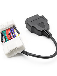 cheap -OBD2 for Tesla  Male Female to 16Pin Connector for Tesla OBD 2 OBDII Diagnostic Tool Cable Auto Adapter