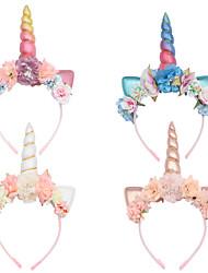 cheap -1 Piece Headband Simulation Flower Headband Ins Explosion Cat Ear Headgear Party Prom Hair Accessories