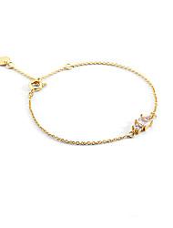 cheap -Women's Clear Cubic Zirconia Bracelet Geometrical Heart Stylish Simple Copper Bracelet Jewelry Gold For Daily Promise