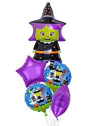 cheap -New Halloween Five-Piece Pumpkin Head Ghost Black Cat Aluminum Film Balloon Party Party Decoration