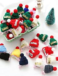 cheap -10PCS  Creative Christmas Gift Wool Hat Hairpin Children's Cute Hair Accessories Three-dimensional Plush Side Clip Bangs Clip