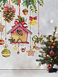 cheap -Creative New Christmas Decoration Wall Stick Glass Stick Door Stick 30*35cm