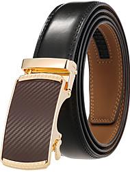 cheap -Men's Waist Belt Daily Gold Black Belt Pure Color