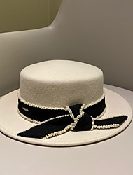 cheap -Elegant Retro Wool / Beaded Hats with Bowknot / Beading / Metal 1pc Wedding / Tea Party Headpiece
