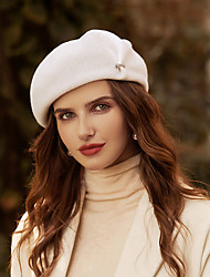 cheap -Simple Elegant 100% Wool Hats with Sparkling Glitter / Solid 1pc Wedding / Tea Party Headpiece