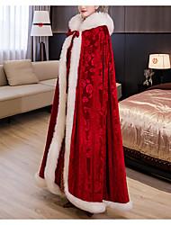 cheap -Sleeveless Elegant / Bridal Velvet Wedding / Party / Evening Shawl & Wrap / Shawls / Women's Wrap With Appliques / Lace-up
