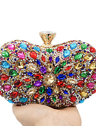 cheap -Women's Bags Polyester Alloy Evening Bag Crystals Rhinestone Fashion Party Wedding Evening Bag Wedding Bags 2021 Gold
