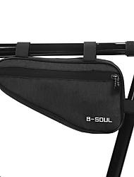 cheap -1.5 L Bike Frame Bag Top Tube Anti-Slip Reflective Waterproof Bike Bag Terylene Bicycle Bag Cycle Bag Outdoor Exercise